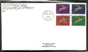 US-SC-3359a-Deer-FDC-No-Cachet