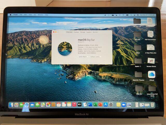 Apple MacBook Air 13 Inch Space Gray 10th Gen i5 16GB RAM 256GB SSD 2020 Model