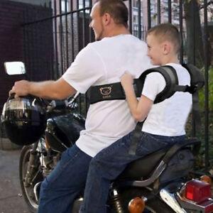 Adjustable Kid Strap Harness Safety Belt For Motorbike Electric Vehicle Red