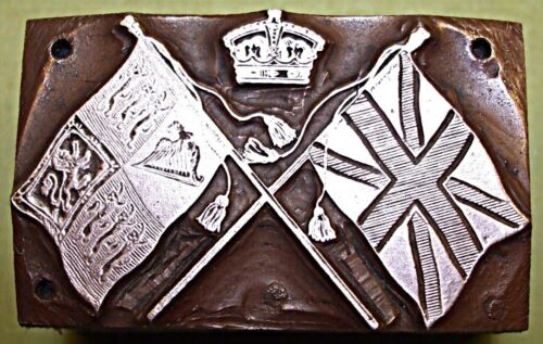 """THE ROYAL STANDARD & THE UNION FLAG"" PRINTING BLOCK."
