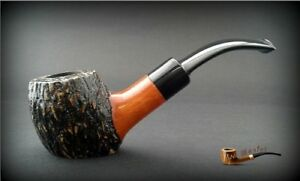 HAND-MADE-WOODEN-TOBACCO-SMOKING-PIPE-no-40-PEAR-Rustic-Filter