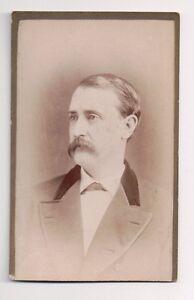 Vintage-CDV-Somber-Looking-Gentleman-J-W-Taylor-Photo-Rochester-New-York