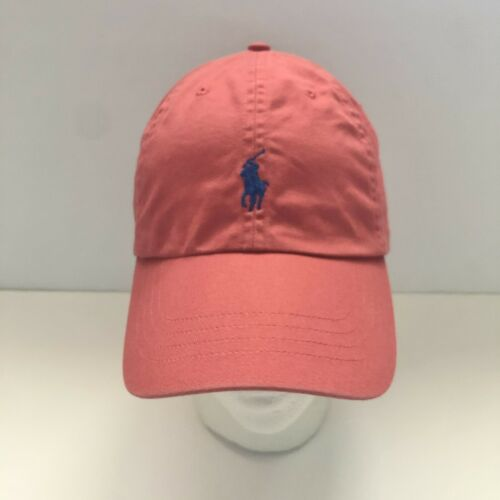Polo Ralph Lauren Salmon Dusty Rose Blue Embroider
