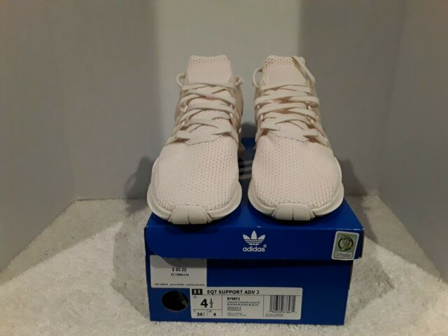 new arrival bfb32 ddf6a NEW BIG KIDS/YOUTH 4.5/WOMEN'S 6 ADIDAS EQT SUPPORT ADV J SHOE-CHALK WHITE
