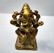 Ancien petit Ganesh en bronze Inde du Nord 18e