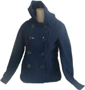 Womens-AEROPOSTALE-Hooded-Solid-Pea-Coat-Peacoat-Jacket-NWT-119-50-8709