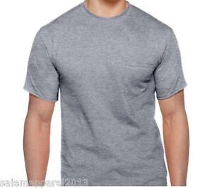 Men 39 s gildan 2 pack pocket t shirt undershirt dry blend for Frat pocket t shirts