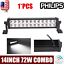 """Philips 14inch 72W LED Work Light Bar Offroad Car Boat Truck UTE Combo Lamp 12/"""""""