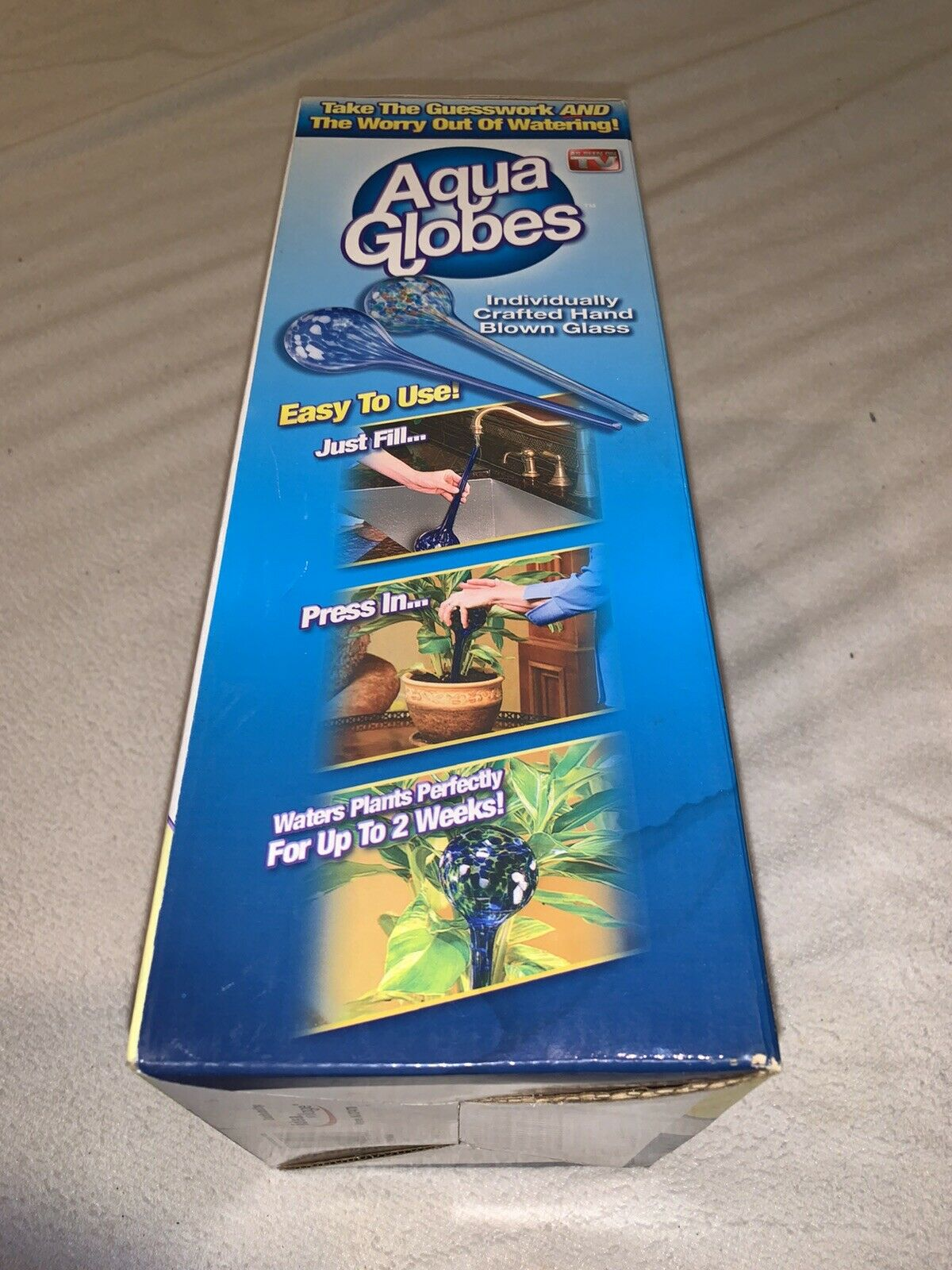 NEW Aqua Globes 2-Pack Hand Blown Glass Bulbs As Seen On TV NIP