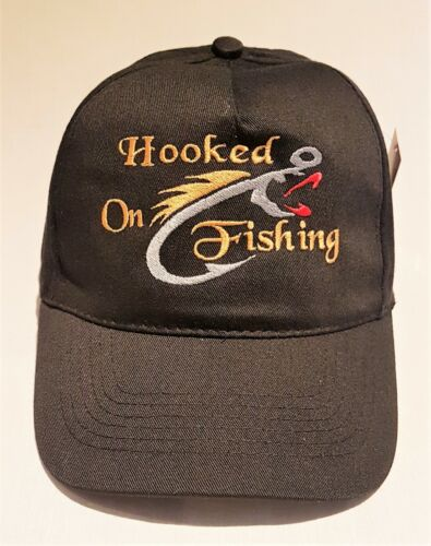 Hooked On Fishing Heisenberg Embroidered base ball cap hat in 9 Colours.
