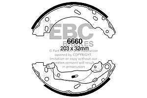 6660 EBC Rear Brake Shoes for SMART Fortwo