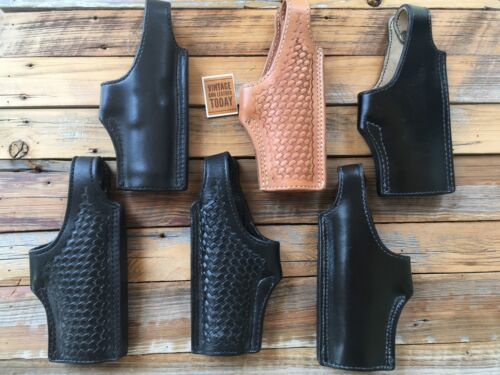 Tex Shoemaker Black Brown Leather Lined OWB Holster For Glock 21 Right Left