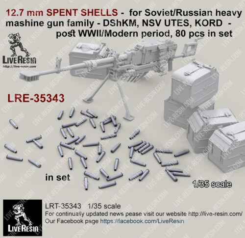 1//35 12.7mm SPENT SHELLS for Russian Heavy Machine Gun DShKM//NSV UTES//KORD
