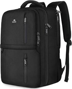 """Matein Men's Black 15.6"""" Anti-Theft Carry-On Travel Laptop Backpack School Bag"""