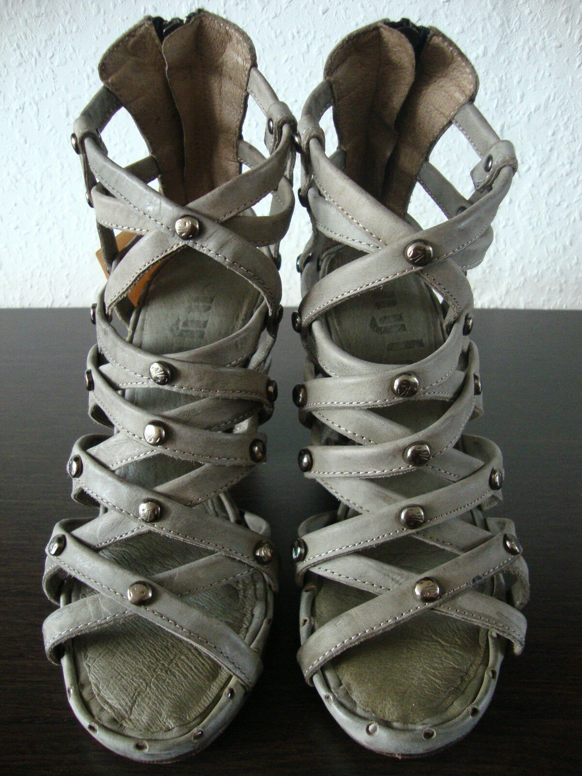 Nylo  Oyster Gladiator Roman Sandals shoes Womens Sandals Leather Size 36 NEW