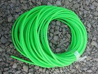 20 Feet Of Bulk 1/4 Bright Green Latex Tubing Eel Lure Fishing Hook Tube Jig