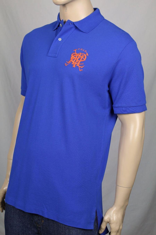 Ralph Lauren Small S blu blu blu Mesh Polo Shirt Classic Fit arancia PRL NWT b5af11