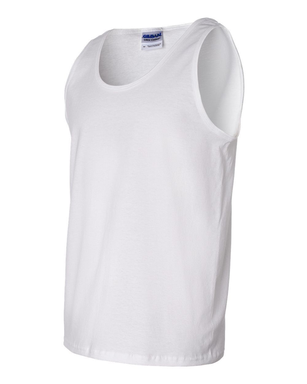 15 Blank Gildan Ultra Cotton Weiß Tank Top 2200 T-Shirt Bulk Lot ok to mix S-XL
