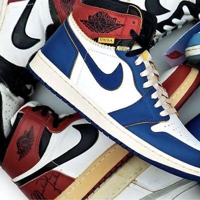 more photos 2a2ee ecd88 Jordan 1 Retro High Union Los Angeles Blue Toe Size 9.5 IN HAND! 100%  AUTHENTIC!   eBay