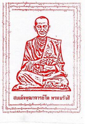 Phra Somdej Toh Buddha Red Yant Talisman Thai Amulet Protection Charm Benjapakee