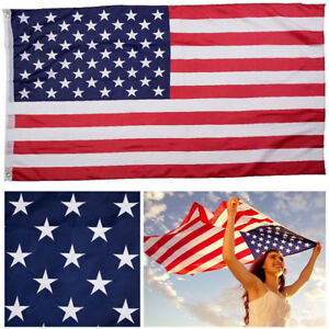 91e61d33cc60 High Quality 3x5ft American Flag US Star Stripe USA Polyester Metal ...