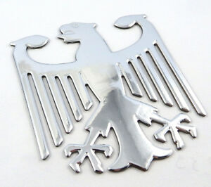 German-Eagle-Chrome-finish-decal-emblem-3D-sticker-car-bike-2-5-034-flexible