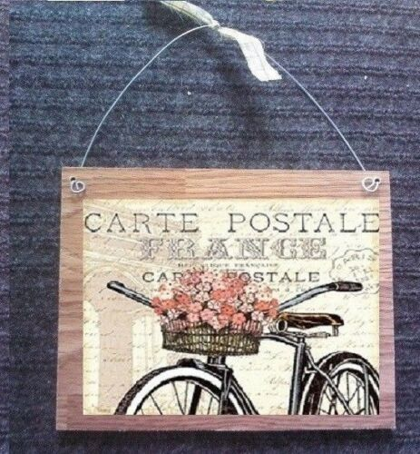 Paris Pictures France Vintage Bike  Bathroom Bedroom Wall Hangings Plaques