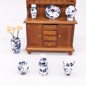 7Pcs-Set-1-12-Dollhouse-miniatures-porcelain-vase-doll-house-ceramic-accessoriDD