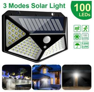 100-LED-Solar-Power-Wall-Lights-PIR-Motion-Sensor-Outdoor-Garden-Lamp-Waterproof