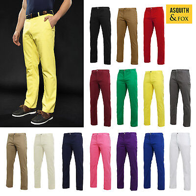 Mens Chino Trousers by Asquith and Fox