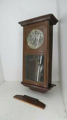 22/7/918 Wanduhr Regulator Gustav Becker Facettenglas Jugendstil Um 1910