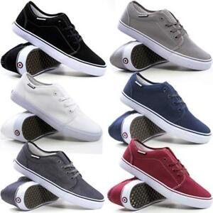 Mens-Lambretta-Lace-Up-Casual-Canvas-Shoes-Plimsolls-Pumps-Skates-Trainers-Size