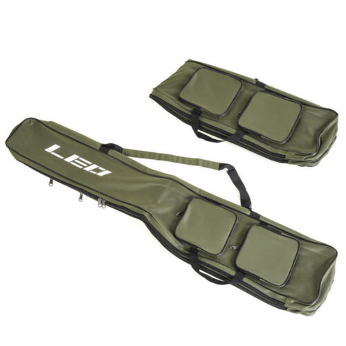 LEO 2 Fach Rutentasche Ruttenfutterale Angelrutentasche Außentaschen 130cm A2C3