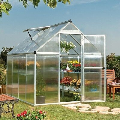 Palram Mythos Greenhouse Aluminium Frame Double Glazed  Free Delivery
