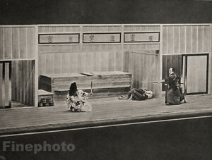 1929-JAPAN-Photo-Gravure-TOKYO-JAPANESE-THEATRICAL-DUEL-Fight-Performance-Art