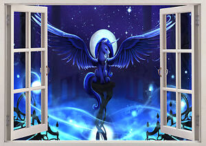 Horse Pony Magical Fantasy Unicorn Dark 3D Window Wall View Sticker Poster Vinyl - <span itemprop='availableAtOrFrom'>Buckinghamshire, United Kingdom</span> - Returns accepted Most purchases from business sellers are protected by the Consumer Contract Regulations 2013 which give you the right to cancel the purchase within 14 days after  - <span itemprop='availableAtOrFrom'>Buckinghamshire, United Kingdom</span>