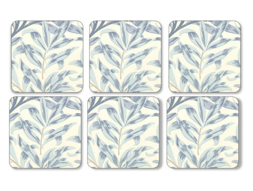 Pimpernel Willow Boughs Blue Coasters Set of 6 Cork Backed Barware Mat Tablemat