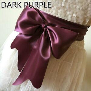Women-Satin-Belt-Ribbon-Obi-Waistband-Faux-Silk-Shiny-Bow-Bandage-for-Dress