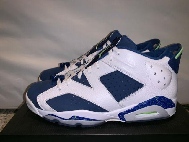 brand new 44f13 c13ae Nike Air Jordan 6 Retro Low Size 11 Seahawks NWB 304401 106