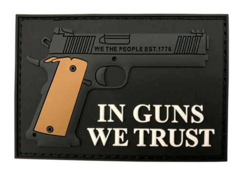 3D-PVC Rubber-MT14 IN GUNS WE TRUST Tactical Hook Patch