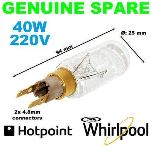 Hotpoint Frigorifero Congelatore ORIGINALI LAMPADINA T25 40 W 230 V C00313201