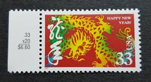 USA-2000-Zodiac-Series-Lunar-Year-of-the-Dragon-1v-Stamp-Mint-NH
