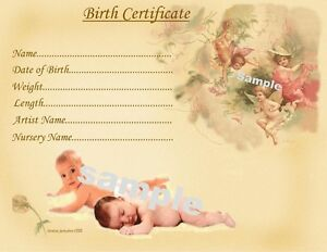 Cute baby birth certificatecertificates 4 reborn fake baby approx image is loading cute baby birth certificate certificates 4 reborn fake yadclub Choice Image