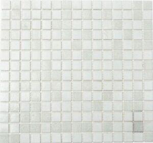 Dettagli su Mosaico Piastrella vetro bianco specchio piastrelle cucina  52-0103 | 1 foglio