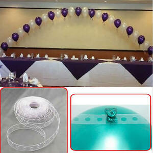 Balloon decorating strip connect chain diy balloon arch for Balloon string decorations