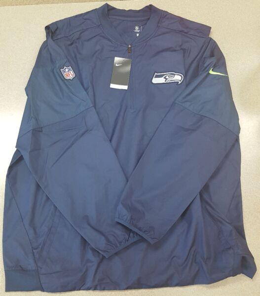 c18b8bce378 NWT $80 Nike Seattle Seahawks Half-zip Lockdown Jacket Men's Size 3XL  838715-419