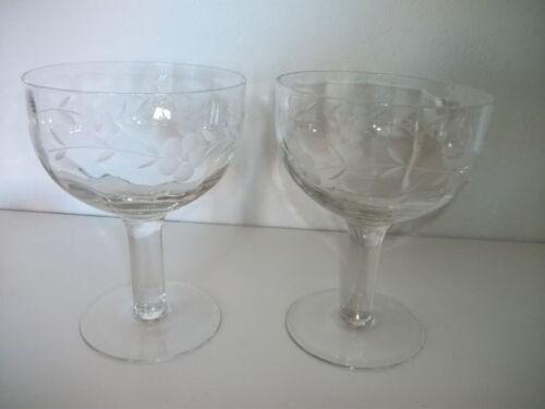 Hochwertiges, elegantes Cocktaiglas/Eisschale aus Kristall 4 Stück NEU