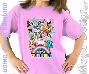 LO-STRAORDINARIO-MONDO-DI-GUMBALL-THE-AMAZING-WORLD-TSHIRT-MAGLIETTA-t-shirt