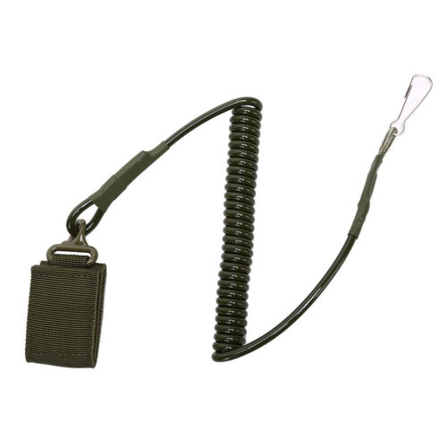 Tactical Single Point Pistol Handgun Spring JGnyard Sling Quick Release Strap YN
