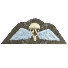 British RAF Army PARA PARACHUTE WINGS Uniform Patch WW2 Repro Arm Parachute